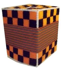 PDF format Black and Orange Boutique Tissue Cover by kathybarwick, $3.70