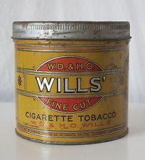 W.D. & H.O. WILLS' CIGARETTE TOBACCO VINTAGE TIN, IMPERIAL TOBACCO CO. OF CANADA
