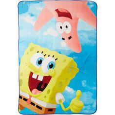 SpongeBob Movie 'Floating Away' Twin 62 inch x 90 inch Blanket, Blue