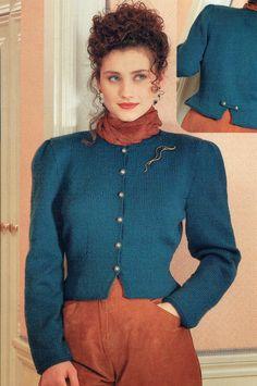 PDF 1980s Wendy 3477 Ladies City-Chic Jacket Knitting Pattern, Retro Chic, New Romantic, Power Dressing, Kim Wilde, Madonnax