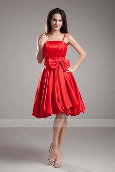 Fashionable A-line Bowknot Taffeta Homecoming Dresses