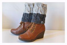 2 in 1 Boot Cuffs Women Leg warmers   Hand knit leg by ilovemyyarn, $25.00