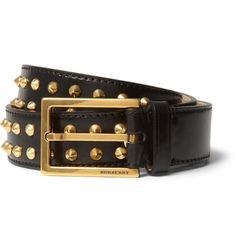 Burberry ProrsumStudded Leather Belt|MR PORTER