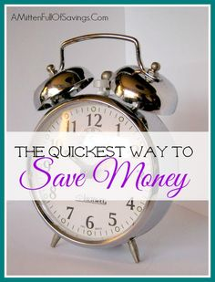 The Quickest Way To Save Money - A Mitten Full of Savings