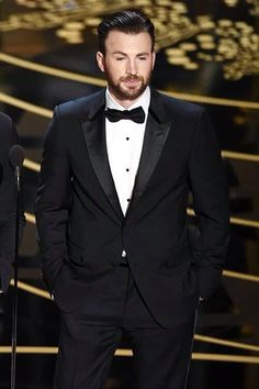 """mcavoys: """" Chris Evans speaks onstage during the Annual Academy Awards at Hollywood & Highland Center on February 2016 in Hollywood, California. Capitan America Chris Evans, Chris Evans Captain America, Steven Grant Rogers, Steve Rogers, Tony Stark, Captan America, Chris Roberts, Chris Evans Funny, Captain Rogers"""