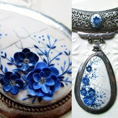 "I already started working on new and unique pieces of jewelry. These beauty will be one of a kind piece. Tomorrow it will be available in my Etsy shop - so be very fast if you wish to purchase it because I will not make anymore ""Made to order""... Thank you so much wonderful people for all your support and love that you are giving me every day. You also gave me strength to finally make some big decisions in my work with polymer clay.  As many of you already know every detail from..."