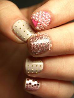 Pearl, Stud and Sparkle Bridal Nails http://www.ivillage.com/wedding-nails-bridal-nails-nail-art-designs/5-a-529600