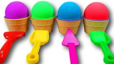 Funny Songs Nursery Rhymes Presents 4 Kinetic Sand Ice Cream Cups and Surprise Eggs Fun for Kids. Educational learning videos for kids with Kinetic Sand and . Funny Songs, Cream Cups, Ice Cream, Kinetic Sand, Satisfying Video, Learning Colors, Coloring For Kids, Nursery Rhymes, Cool Kids