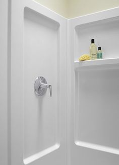 Sterling Plumbing 62010100-0 Advantage Shower Kit, 34-Inch x 32-Inch x 72-Inch, White - Soaking Tubs - Amazon.com