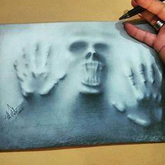 """Fear  - Amazing charcoal  by @tolgaisdar - ✏ #turkishprodrawers -  #blackandwhite  #art #artist #sketch #drawing…"""