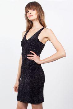 Women s Silver Shimmer Dress Black Bodycon Dress f143d147d