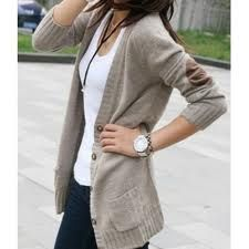Comfy cardigan. Elbow patch. Chunky watch.