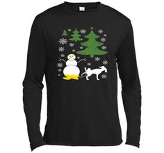 Dog Pees on Snowman Ugly XMas Sweater Men Women Youth