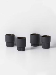 Groove Cups - Dark Grey (set of 4) 1