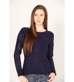 Pink Rose Open Stitch Knit Sweater - Sweaters - Juniors #VFOFallFashion