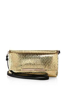 Christian Louboutin - Metallic Leather Flap Bag - Saks.com
