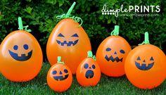 Halloween Pumpkin Balloons made with Cricut Explore -- Dimple Prints. #DesignSpaceStar Round 3