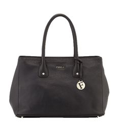 Furla Serena Leather Medium Tote Bag, Black. #BestPrice !