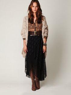 Free People Midnight Train Mesh Skirt, $89.95