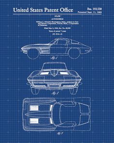 The tesla model s blueprints thing pinterest engine and cars patent print of a corvette stingray patent art by visualdesign malvernweather Choice Image