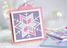 Snowflake Tag by Kay Miller for Papertrey Ink (October 2015)