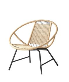 The GAGNET rattan chair is handmade and therefore unique, with rounded shapes and nicely detailed patterns. (limited supply, select stores only)