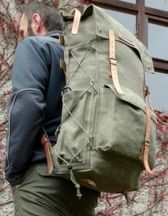 Bushcraft waxed canvas multiuse bag Gatherer by GroundGear on Etsy