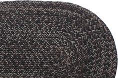 Country Black - Kitchen Braided Rug