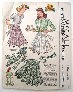 Vintage 40s McCall Apron Pattern