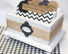 RECIPE BOX Recipe Dividers Recipe Cards Burlap by peachykeenday