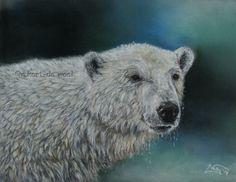 Vicks, ijsbeer Pastel op Pastelmat, ong. 29 x 21 cm, juli 2014 *Masterclass Ruud van Unen*