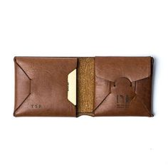 Personalised Origami Leather Wallet With Coin Purse