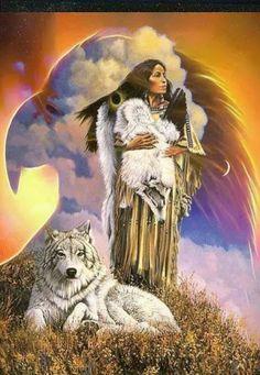 / Native American Wolf, Native American Paintings, Native American Wisdom, Native American Pictures, Native American Beauty, American Indian Art, Native American History, American Indians, Cross Paintings