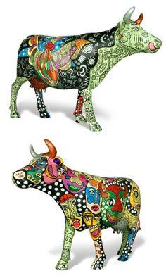 CocoriCow Concrete Garden Statues, Skin Paint, Cow Parade, Sculpture Techniques, Cute Cows, Cow Art, Mexican Art, Public Art, Yard Art