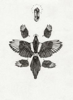 Peter Carrington #illustration #drawing #bird
