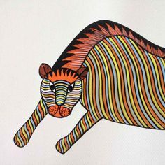 Bengal Tiger Gond Painting