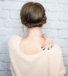 This sweet hairstyle works well for the office or date night.
