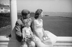 The Kennedy Family in the summer of 1960. Jackie was 5 months pregnant.