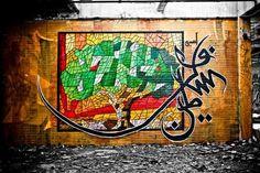 Street Art Par El Seed - Tabarqah (Tunisie)