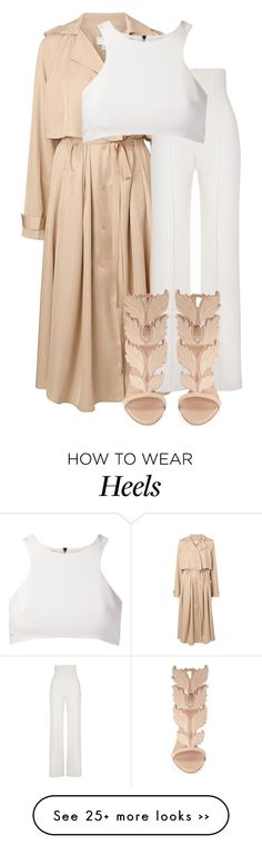 """""""Untitled #2839"""" by xirix on Polyvore featuring Witchery, Yves Saint Laurent, Giuseppe Zanotti and Giuliana Romanno"""