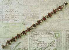 Linda's Crafty Inspirations: Bracelet of the Day: Tallulah Tila - Red & Pewter