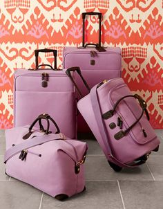 wisteria-hued luggage  http://rstyle.me/n/npb32pdpe