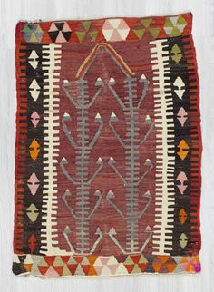 Vintage kilim rug from Denizli region of Turkey. In very good condition. Approximately 40-50 years old