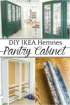 DIY IKEA Hemnes Pantry Cabinet - Bless'er House Ikea Hemnes Cabinet, Do It Yourself Ikea, Dyi, Easy Diy, Mirror Window Film, Glass Front Cabinets, Tv Cabinets, Glass Cabinet Doors, Glass Doors