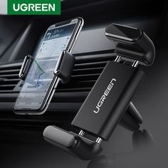 Ugreen Car Phone Holder for Your Mobile Phone Holder Stand for iPhone 11 8 Air Vent Mount Cell Phone Support in Car Phone Stand - To buy again Iphone Car Mount, Iphone Car Holder, Cell Phone Car Mount, Smartphone Holder, Cell Phone Holder, Phone Stand For Car, Mobile Holder, Magnetic Phone Holder, Car Mount Holder