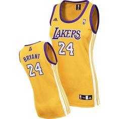 Kobe Bryant Swingman In Gold Adidas NBA Los Angeles Lakers  24 Women s Home  Jersey Gold 9998ebfa30d5