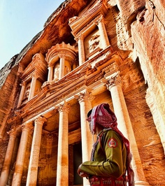 Petra, Jordan. Little compares to this distinct magical ancient city.  History oozes like the heat of the day.