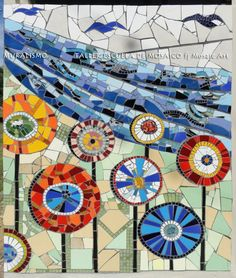 INSPIRATION FUNKY FLOWERS: by Fj mosaic art