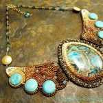 Collier Crazy Lace Turquoise Or [PHOTO]