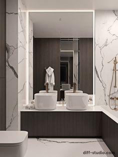 Studio › Functional flat in Kyiv Modern Shower, Modern Bathroom, Interior Design Studio, Modern Interior Design, Sweet Home Design, Powder Room Design, Home Remodeling Diy, Toilet Design, Bathroom Design Luxury